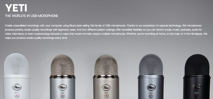 Blue Yeti Microphone For Real Estate