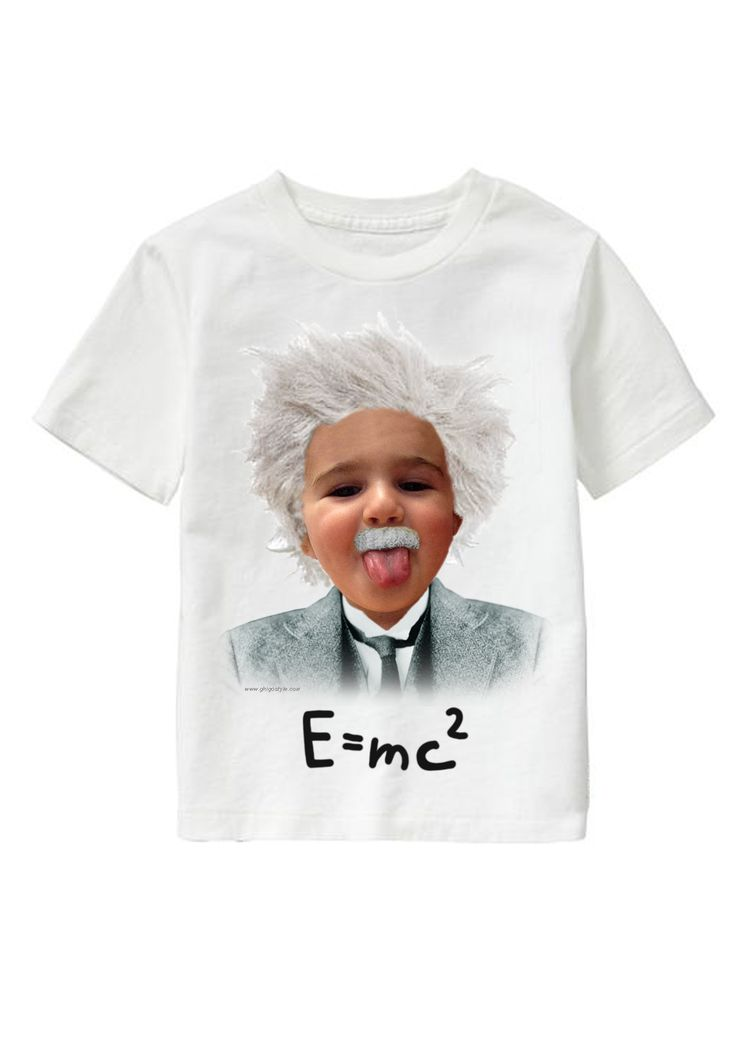 E=mc2 personalized T-shirt www.ghigostyle.com