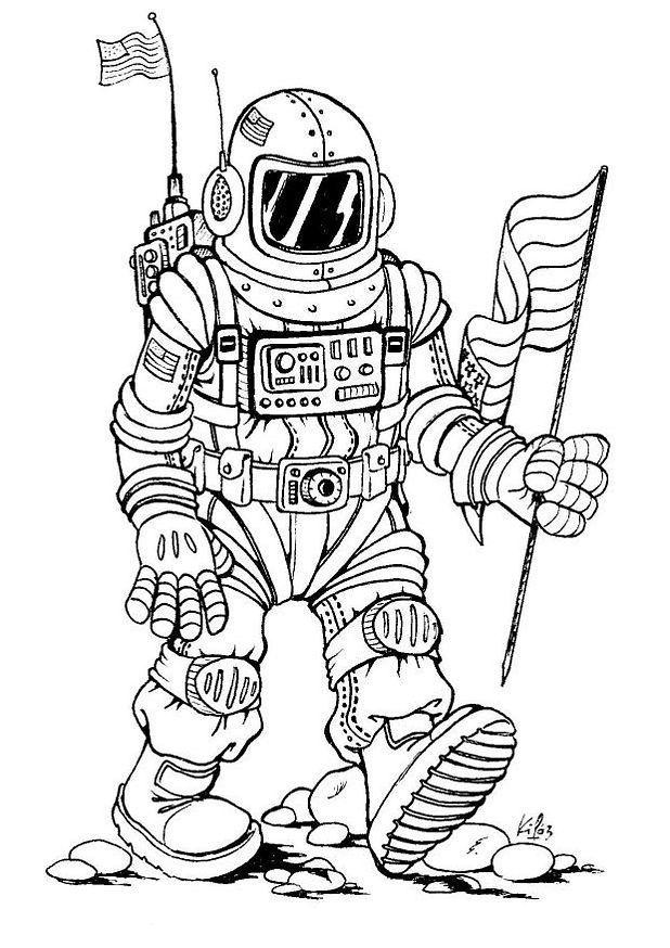 Раскраска «Космонавты»