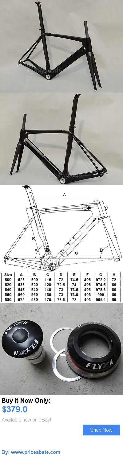 bicycle parts: Carbon Glossy Road Bike Frame 50Cm For Bsa Bicycle Fork Seatpost Clamp Headset BUY IT NOW ONLY: $379.0 #priceabatebicycleparts OR #priceabate