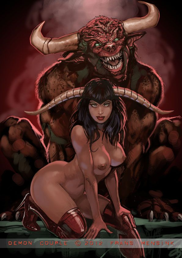 sex with a devil drawing