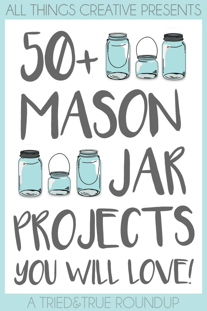 From recipes to home decor to seasonal crafts, this list of 50+ Mason Jar Projects has something for everyone!