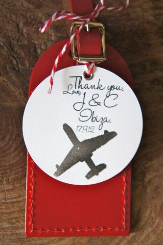 This personalised luggage tag is the perfect wedding favour if you're having your wedding abroad.