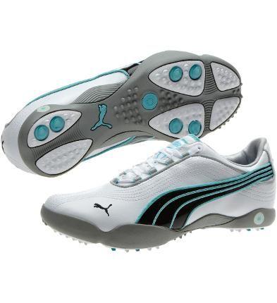 Sunny II Women's Golf Shoes, white-black-blue radiance