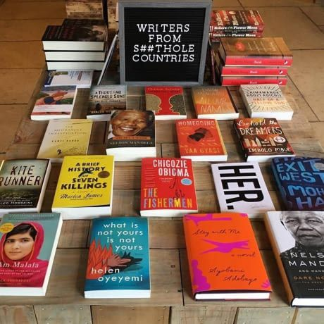 A New York bookstore has a section featuring writers from Shithole Countries.
