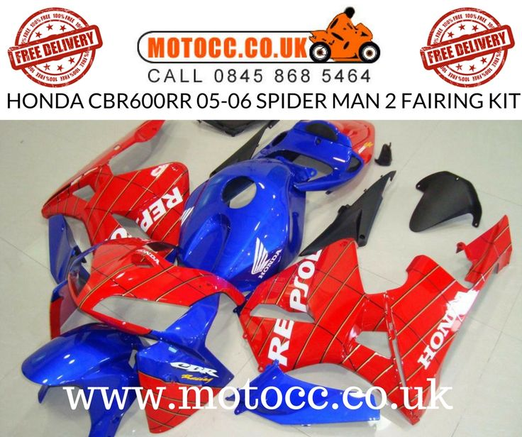 HONDA CBR600RR 05-06 SPIDER MAN 2 FAIRING KIT   ABOUT THIS PRODUCT  Made via the Injection Mould process. This means it provides as close fit as the OEM panels. This kit is made up of 14 pieces Fuel Tank Included Made in ABS plastic Comes with free Screen.  http://www.motocc.co.uk/acatalog/CBR600RR-05-06-SPIDER-MAN-2-FAIRING-KIT.html  #motocc #motoccuk #motorcyclefairings #motorcyclebodywork #hondafairings #UnitedKingdom #UK