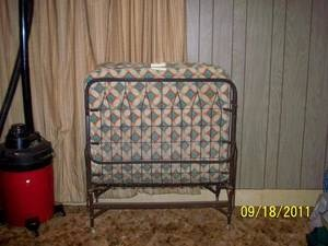Grammy had a couple when we would all (cousins/aunts/uncles) go to visit - I have no idea how well you slept on these, I always had to sleep on the floor...