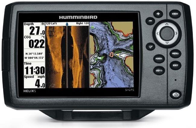 SONDEUR / GPS COULEUR HUMMINBIRD HELIX 5 SIDE IMAGING AVEC SONDE TA