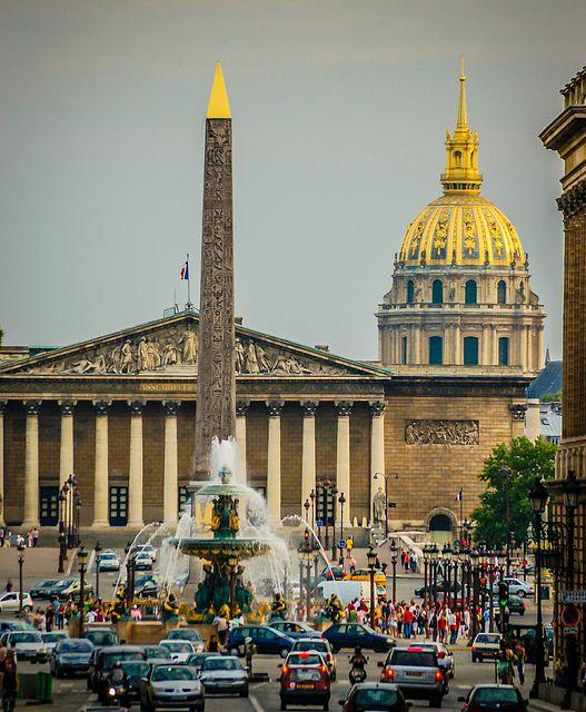 Paris France - Concorde Plaza Paris with Dome de Invalides