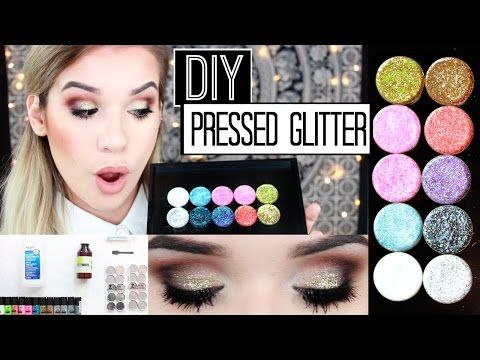 EASY DIY: Pressed Glitter Eyeshadow + Demo! | Glitter Injections DUPE - YouTube