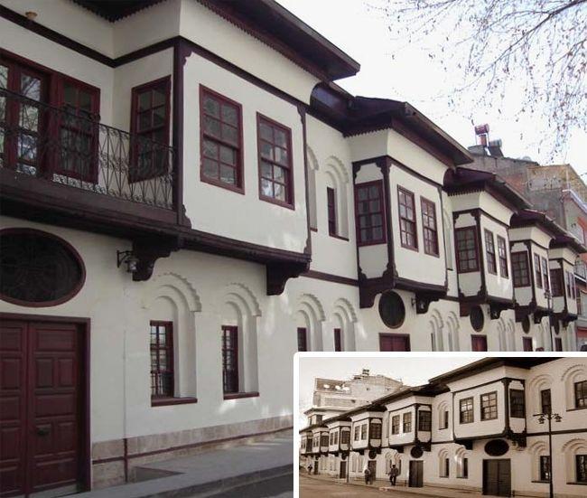 Malatya -Beşkonaklar Malatya konaklarının yapım özelliklerini taşıyan, biri birine yapışık beş konaktan ibaret bir yapı manzumesidir. 1900'lü yılların başlarından itibaren inşa edildikleri bilinmektedir. Sokak içerisinde toplam 12 konak bulunmaktadır.