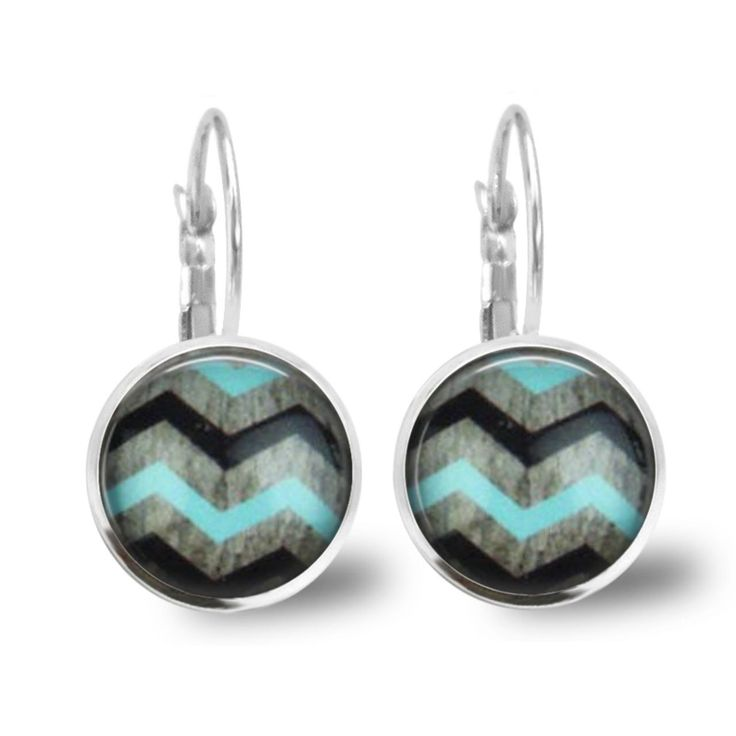 Chatterbox City - Chevron Lever Back Glass Cabochon Earrings, $10.00 (http://www.chatterboxcity.com.au/chevron-lever-back-glass-cabochon-earrings/)