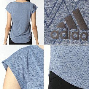 adidasアディダスレディースTシャツトレーニングウエアWワークアウトフレンチスリーブグラフィックTシャツBIK21女性用【1枚までメール便OK】【メーカー】
