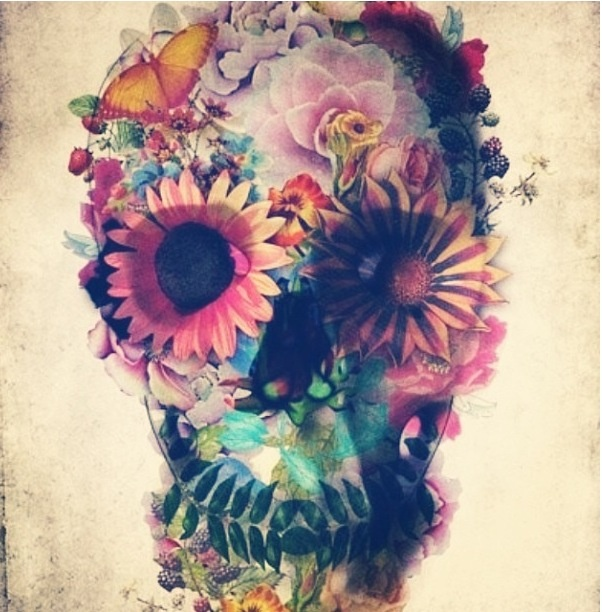 trippy flower skull art pinterest trippy skulls and
