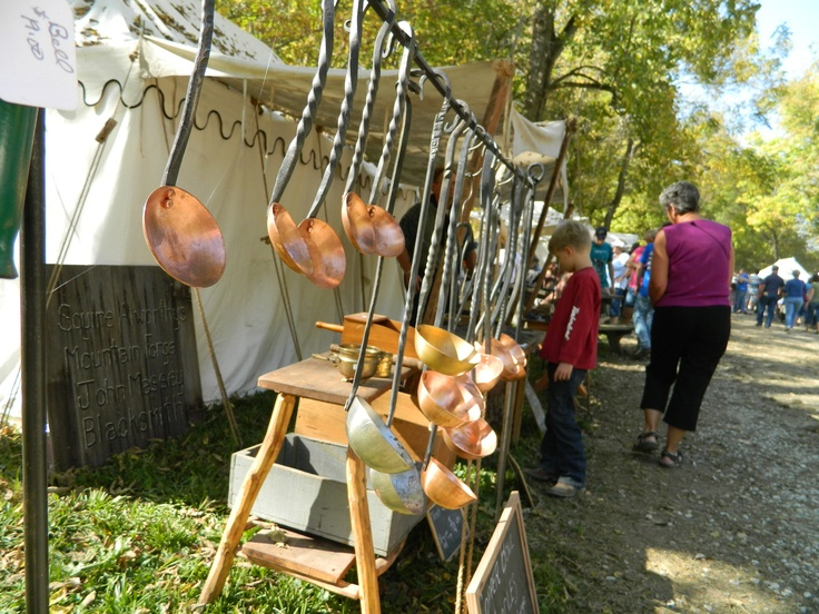 copper spoons at Mississinewa 1812 re-enactment