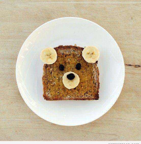 cool breakfest: Idea, Fun Food, For Kids, Teddy Bears, French Toast, Bears Toast, Honey Bears, Peanut Butter, Kids Food