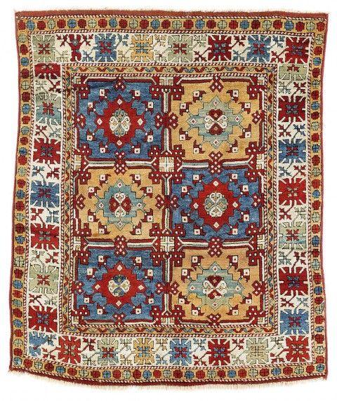 Rippon Boswell Major Spring Auction 31 May 2014. Lot 41. Bergama rug, North West Anatolia, Yuntdag region. 196 x 165 cm. Mid 19th century.