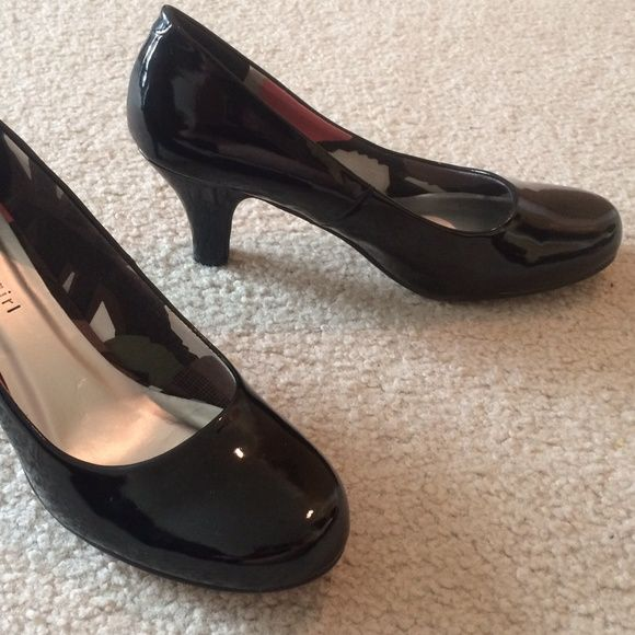 """Black Patent Leather Heels Manmade leather, synthetic soles. 3"""" heels. Size 10. NWOT. Madden Girl Shoes Heels"""
