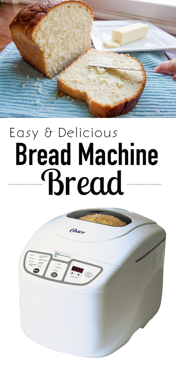 The most Delicious Bread Machine bread recipe ever! Get homemade bread the easy way! A nice, hearty bread full of flavor.