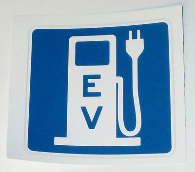 EV EVSE Electric Car Vehicle Charge Station Decal Sticker 3.25