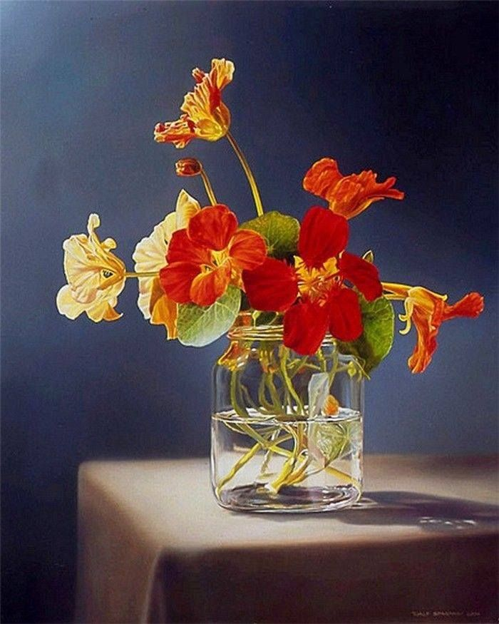 "https://www.facebook.com/MiaFeigelson-Mia Feigelson's FB Gallery ""Nasturtium в вазу"" Путем Tjalf Sparnaay, голландский hyperrealist художник B. 1954) Холст, масло http://www.tjalfsparnaay.nl/en/ https://www.facebook.com/Tjalf-Sparnaay-236813626371672 Художник biogrpahy: http://bit.ly/1ja8ZwV #Tjalfsparnaay #stilllife #голландский #цветы #nasturtium"