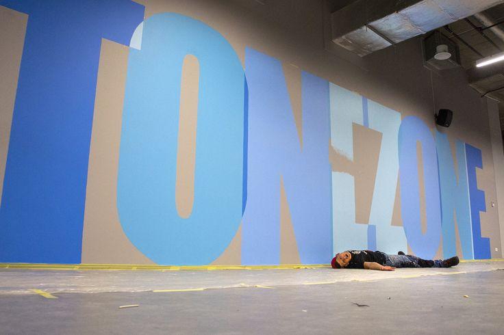 Mural at Tone Zone gym, Gdansk, Poland by Aleks Skrok