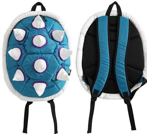 new NINTENDO blue SPIKE king koopa BOWSER SHELL big VIDEO GAME school BACKPACK #BioworldMRKTCRSHR #Backpack