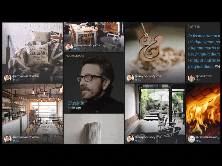 Animation of interactive wall concept I created a while ago. All Instagram photos, tweets and social check in, as well as hourly statistics, are animated on this interactive wall display.   HQ and ...