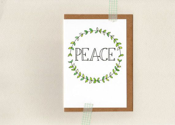 PEACE . christmas greeting card . art . xmas by ThePaisleyFive