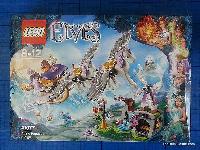 The Brick Castle: LEGO Elves Aira's Pegasus Sleigh review set 41077