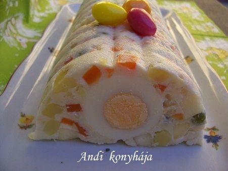 Majonézes saláta formában dermesztve - Andi konyhája - Sütemény és ételreceptek képekkel