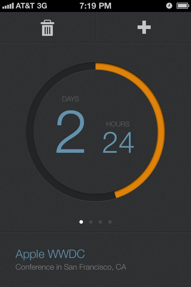 UltraUI | UI Design & Inspiration — Countdown for iPhone