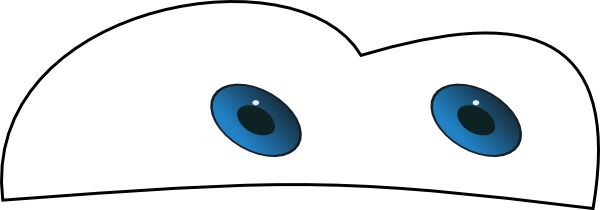 Sly image for lightning mcqueen eyes printable