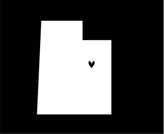 State Car Decal DIY Decal Utah Decal New Mexico Decal