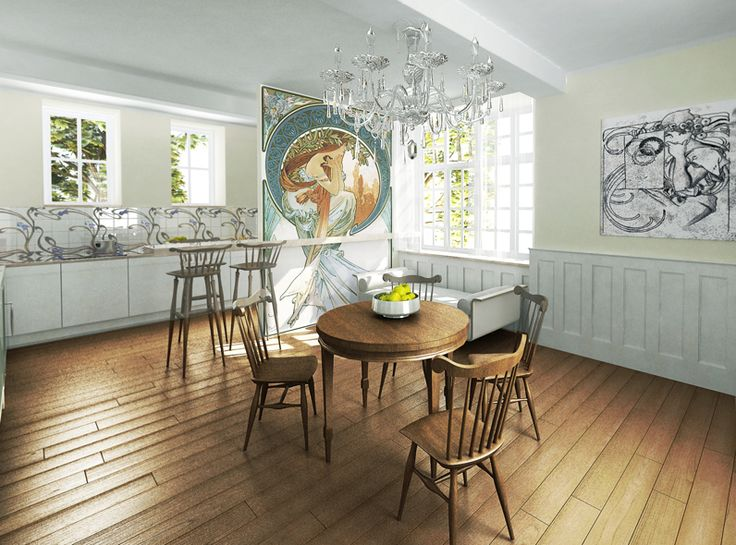 Awesome Art Nouveau Design In Kitchen 2
