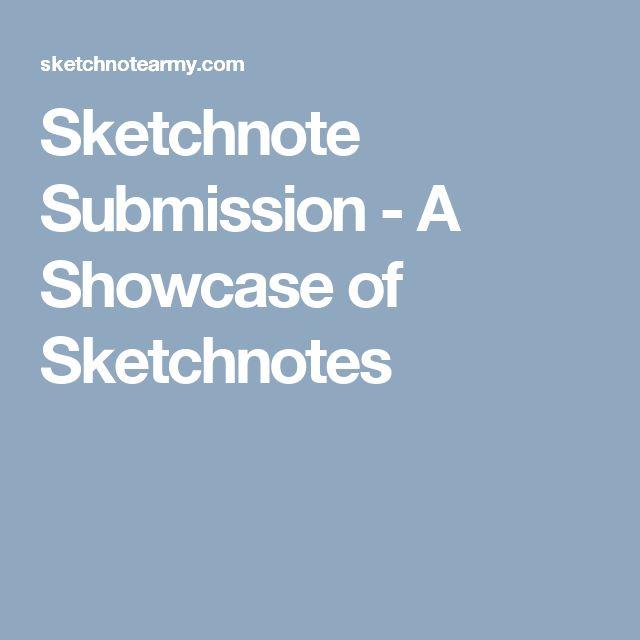 Sketchnote Submission - A Showcase of Sketchnotes