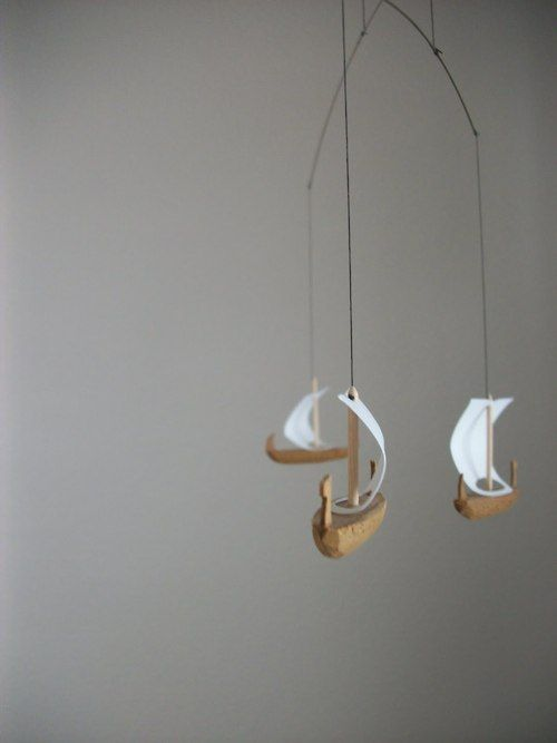 sailboat mobile.: Wood Boats, Baby Mobiles, Boys Nurseries, Sailing Ships, Ships Mobiles, Sailing Away, Vikings Boats, Sailboats Mobiles, Sailing Boats