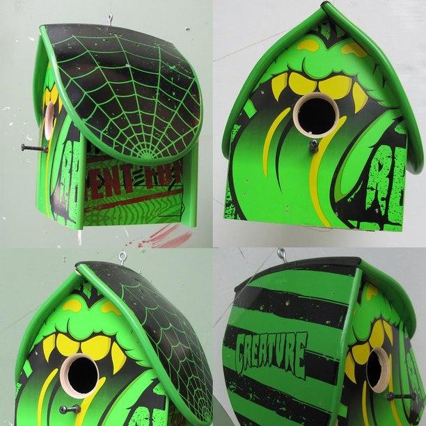 Skateboard Birdhouse Recycled Skateboards skateboard, birdhouse, repurposed