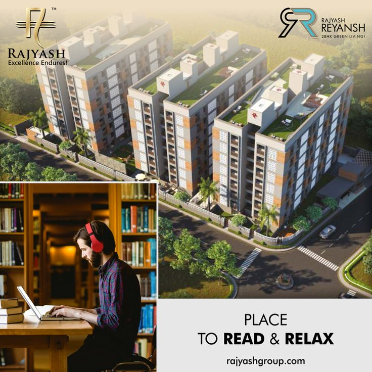 No need to step out of your premises when you have a inbuilt library to find yourself a perfect cosy corner to read your favourite #Book!  #RajyashReyansh #RajyashCity #RajYashGroup #RajYash #SouthVasna #Ahmedabad