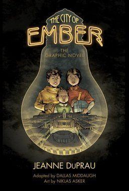 The City of Ember: The Graphic Novel by Jeanne DuPrau ; adapted by Dallas Middaugh ; art by Niklas Asker ; color by Niklas Asker and Bo Ashi ; lettering by Chris Dickey