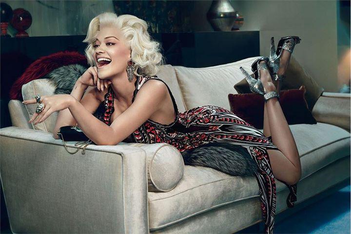 Rita Ora w nowej kampanii reklamowej Roberto Cavalli zima 2014-15 |