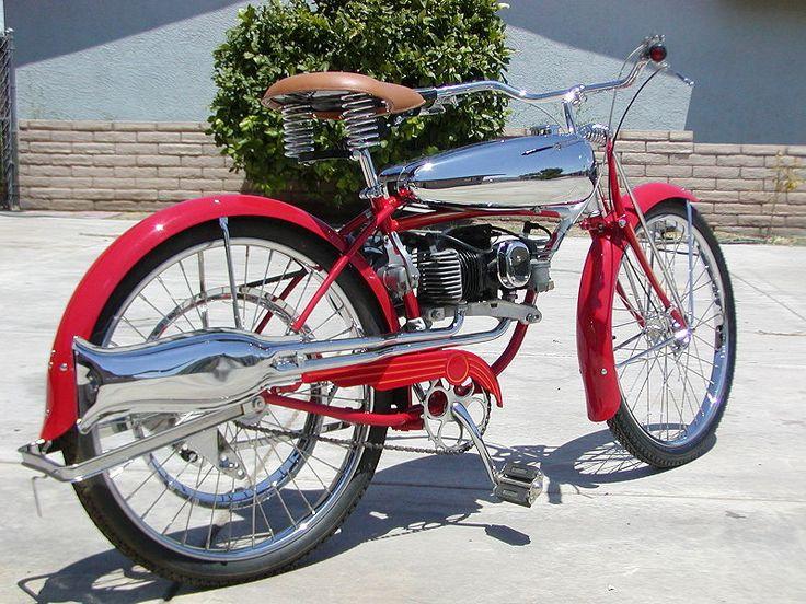 I definitely want this bike so that when I am tired I can just turn on the motor and away I gooooooooooooooo! Love that color too.