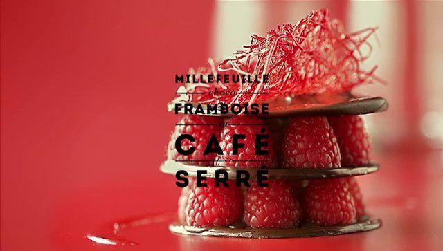 ROUGE by Carte Noire : Millefeuille choco-framboise au café serré. Carte Noire donne de la couleur aux saveurs avec une série de 4 recette...