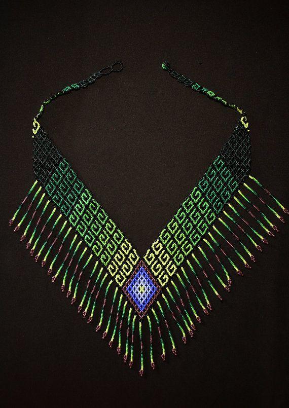 Tribal High Fashion V Necklace Boho Necklace Native American