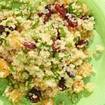 Quinoa Salad with Dried Cranberries and Apricots - so fresh and delicious ... not to mention easy! The colours are perfect for fall!