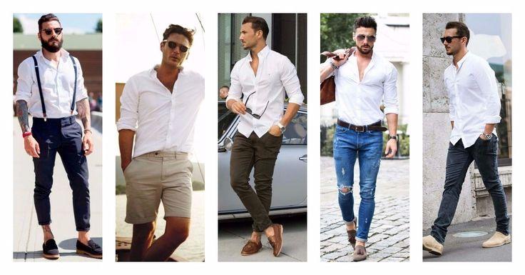 Ένα καλό λευκό πουκάμισο είναι απαραίτητο για κάθε γκαρνταρόμπα, καθώς ταιριάζει σε κάθε περίσταση, με την προϋπόθεση να το συνδυάσεις σωστά! ↠ Mε παντελόνι τύπου cropped ή chinos ↠ Με black skinny ή σκισμένο denim ↠ Με βερμούδα Δες εδώ μεγάλη ποικιλία σε επώνυμα ανδρικά πουκάμισα με έκπτωση ως και -80%!