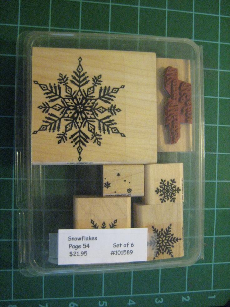 Destash: Stampin Up Snowflakes