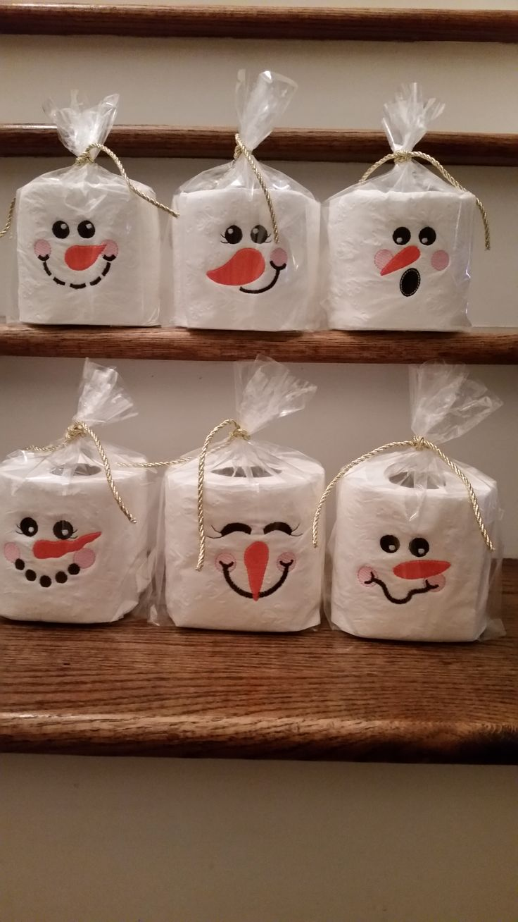 Embroidery designs for toilet paper - Snowman Toilet Paper