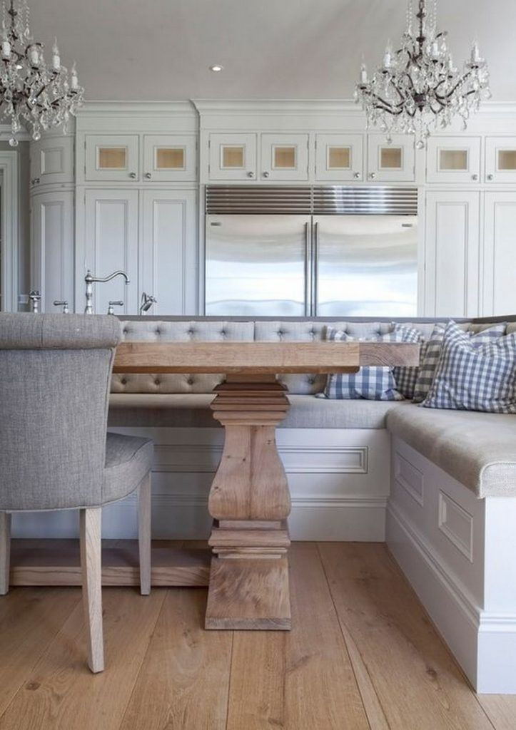 Kitchen island with built in seating inspiration 18