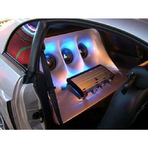 Mustang Sick rear seat delete!! enclosure car stereo trunk install JL Audio